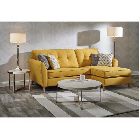 Casa Saffron 3 Seater Fabric Chaise Sofa