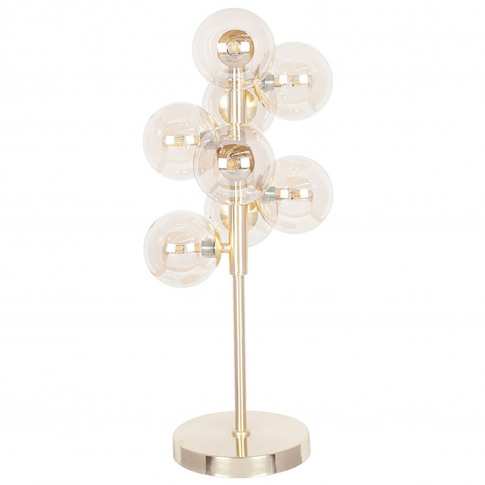 Pacific Lifestyle Lustre Ball Table Lamp, Clear/Gold