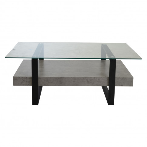 Casa Newton Rectangular Coffee Table, Light Concrete