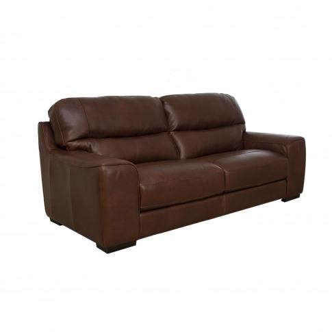 Italia Living Prato 3 Seater Leather Sofa, Brown