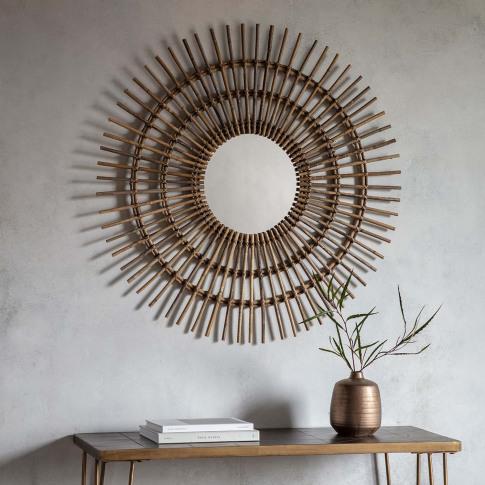 Gallery Benito Mirror, Rattan
