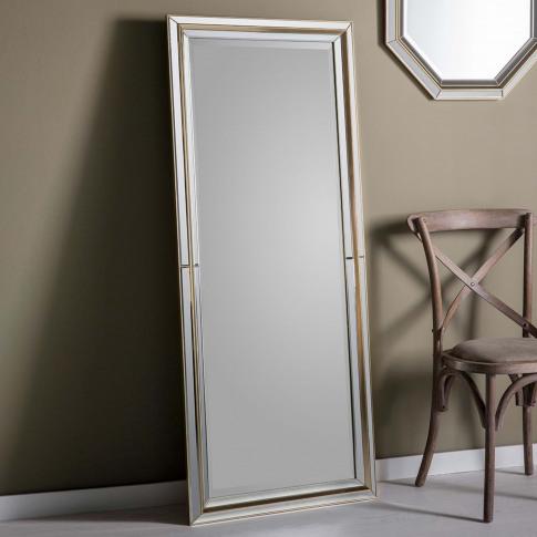 Gallery Vogue Leaner Mirror, Gold
