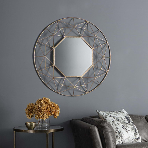 Gallery Andromeda Mirror, Gold