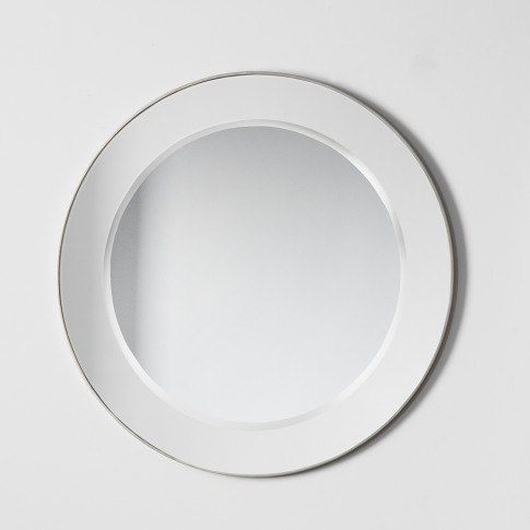 Gallery Bertoni Round Mirror, Silver