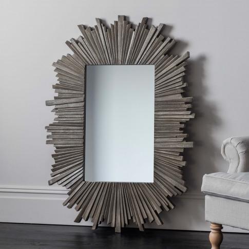 Gallery Kilarra Rectangular Mirror, Grey