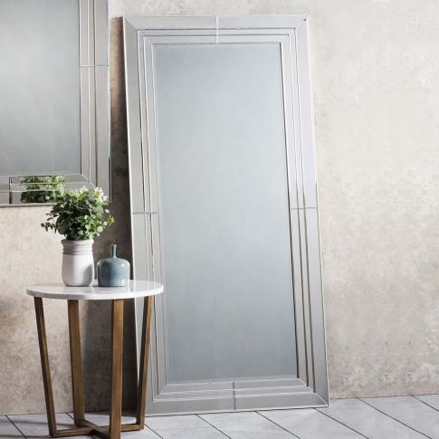 Gallery Knapton Leaner Mirror, Silver