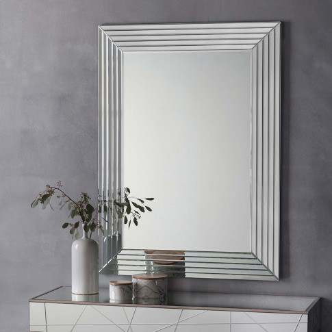 Gallery Rawson Rectangular Mirror, Silver