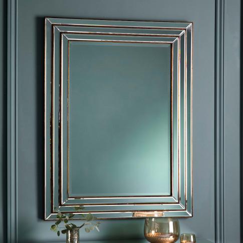 Gallery Chambery Rectangular Mirror, Bronze