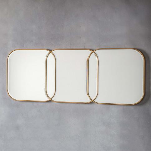 Gallery Kennford Mirror, Gold