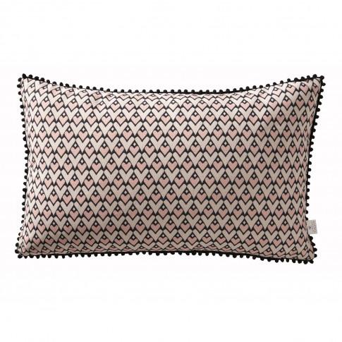 Oasis Ava Heart Boudoir Cushion, 50 X 30cm, Pink