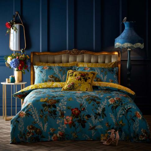 Oasis Leighton Duvet Set, King, Blue