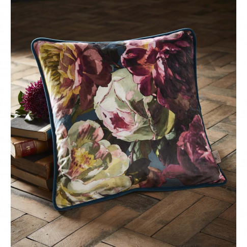 Oasis Renaissance Cushion, 43 X 43 Cm, Midnight