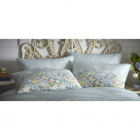 Oasis Floral Ombre Pillowcase Pair, Seafoam
