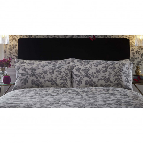Oasis Amelia Pillowcase Pair, Charcoal