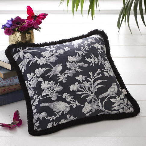 Oasis Amelia Cushion, 43 X 43 Cm, Charcoal