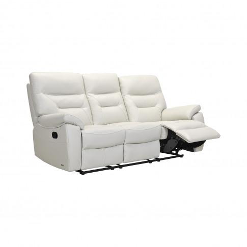 Casa Indianna 3 Seater Manual Recliner Leather Sofa,...