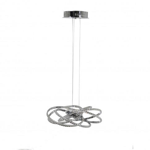 Casa Ritz Ceiling Pendant Light, Led, Chrome