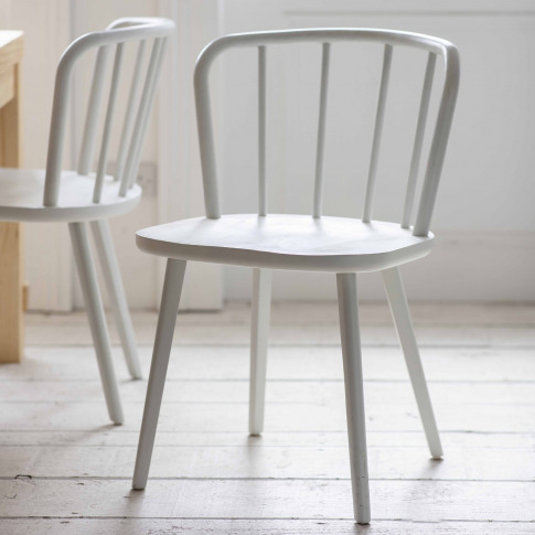 Garden Trading Uley Dining Chairs, Set Of 2, Lily White