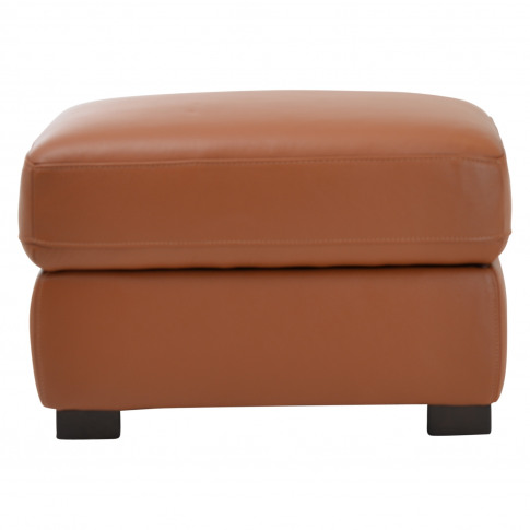 Casa Harry Leather Storage Footstool, Brown