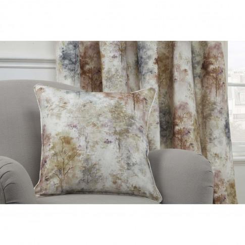 Sundour Woodland Cushion Cover, 43x43cm, Blush