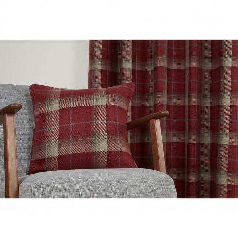 Sundour Carnoustie Cushion Cover, 43 X 43cm, Red