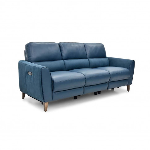 Casa Archie 3 Seater Power Recliner Leather Sofa, Al...
