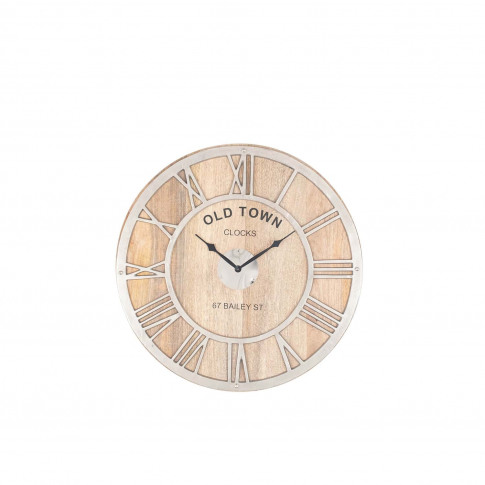 Pacific Lifestyle Raw Wood Round Wall Clock