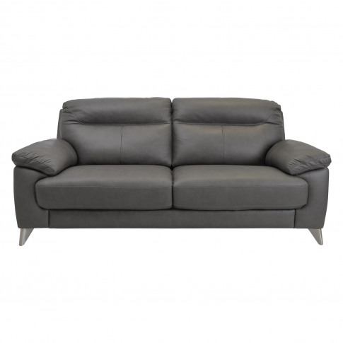 Casa Maya 3 Seater Leather Sofa, Rangers Charcoal