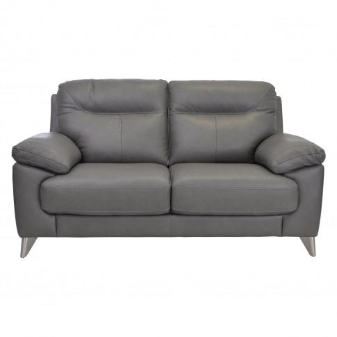 Casa Maya 2 Seater Leather Sofa, Rangers Charcoal