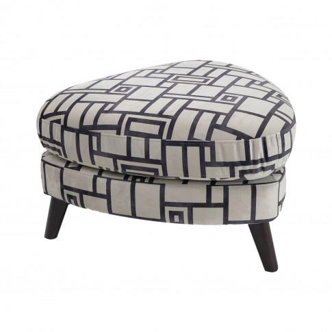 Casa Felix Triangular Fabric Footstool