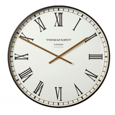 "Thomas Kent 21"" Clocksmith Wall Clock, White"