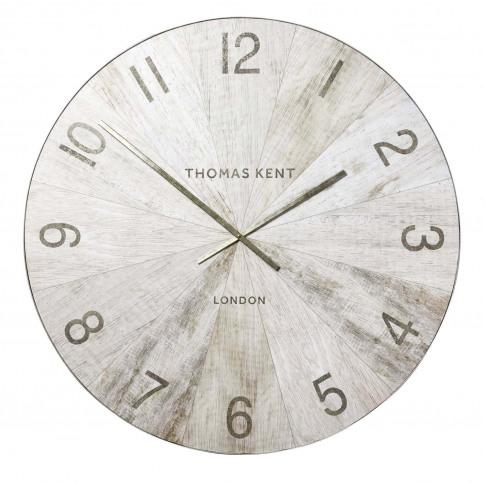 "Thomas Kent 45"" Wharf Wall Clock Oak, Brown"