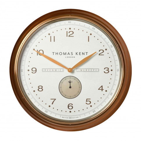 "Thomas Kent 20"" Greenwich Timekeeper Clock, Gold"