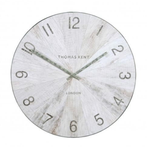 "Thomas Kent 22"" Wharf Wall Clock Oak, Brown"