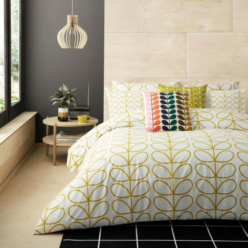 Orla Kiely Linear Stem Pillowcase Pair, Dandelion