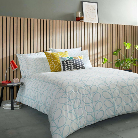 Orla Kiely Linear Stem Duvet Cover, Super King, Nept...
