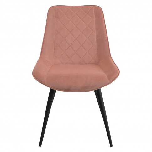 Casa Brent Velvet Dining Chair, Rose