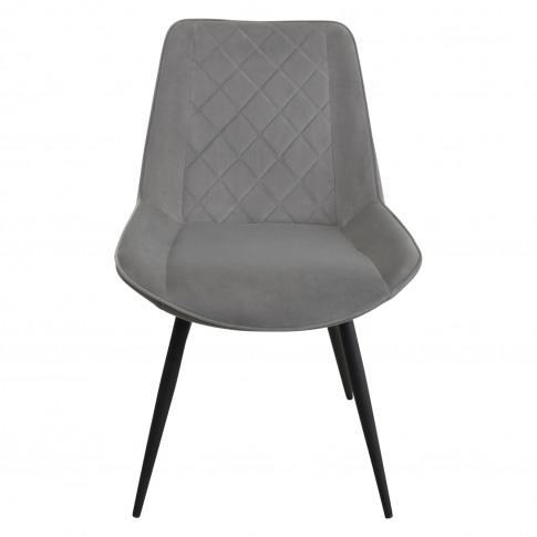 Casa Brent Velvet  Dining Chair, Grey
