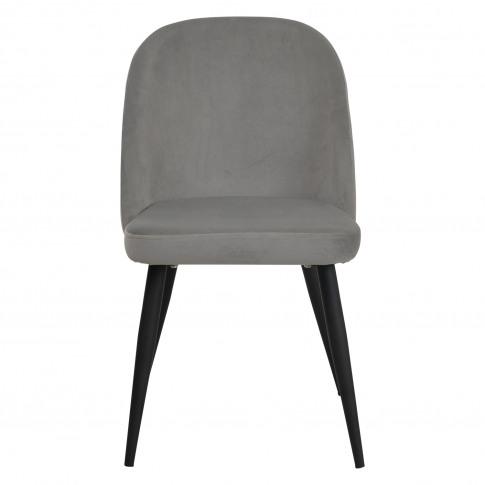 Casa Merton Velvet Dining Chair, Grey