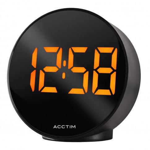 Acctim Circulo Round Led Clock, Black