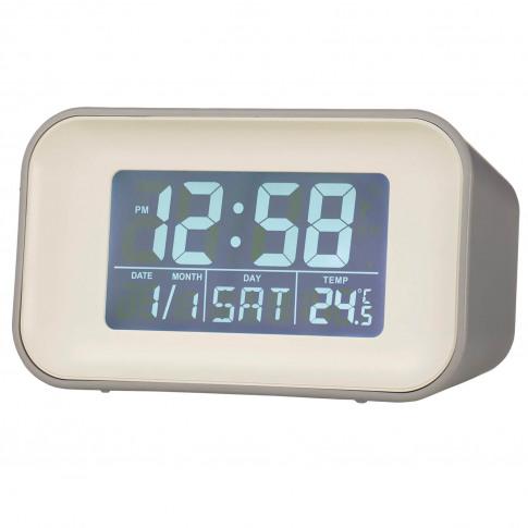 Acctim Alta Reflection Alarm Clock, Grey