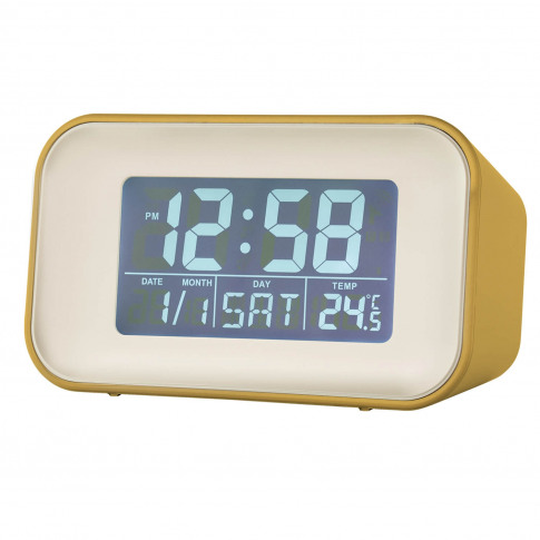Acctim Alta Reflection Alarm Clock, Yellow
