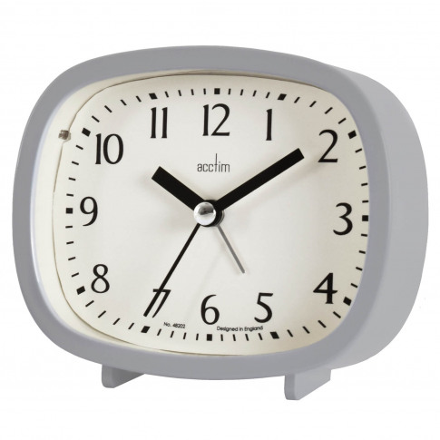 Acctim Hilda Alarm Clock, Grey