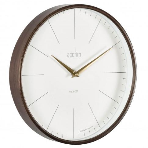 Acctim Bonde Wood Wall Clock, Brown