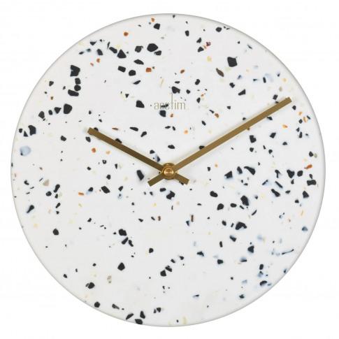Acctim Terrazzo Wall Clock, White