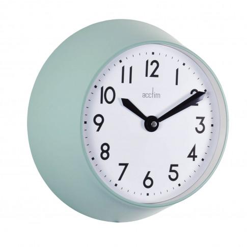 Acctim Wixham Metal Wall Clock, Green