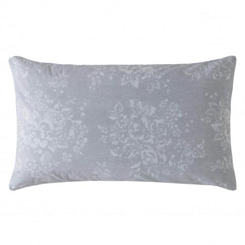 Cath Kidston Washed Rose Standard Pillowcase Pair, Grey