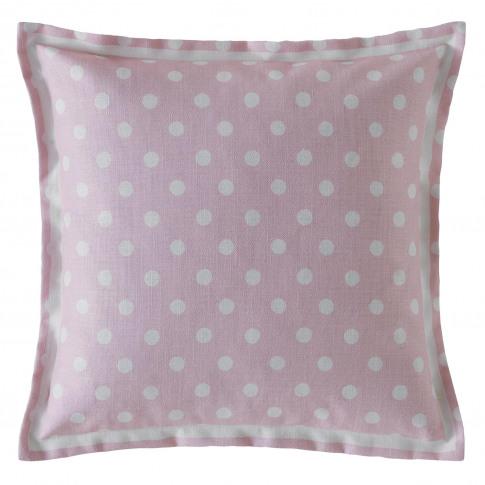 Cath Kidston Button Spot Cushion, Blush