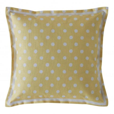 Cath Kidston Button Spot Cushion, Yellow