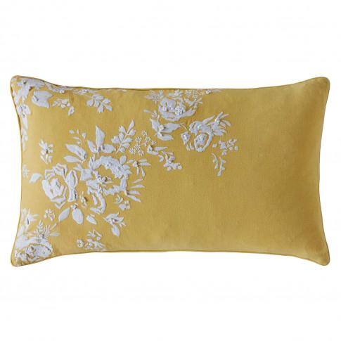 Cath Kidston Vintage Bunch Cushion, 30 X 50cm, Yellow